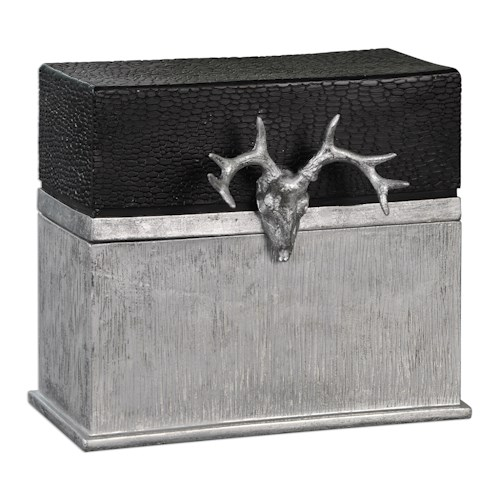 Uttermost Accessories Adil Black Silver Box