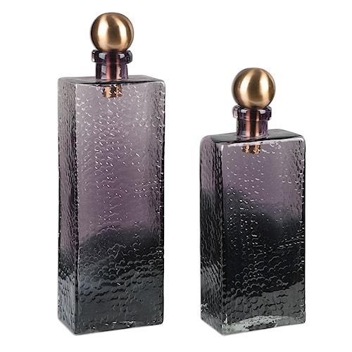 Uttermost Accessories Benedetto Glass Bottles, S/2