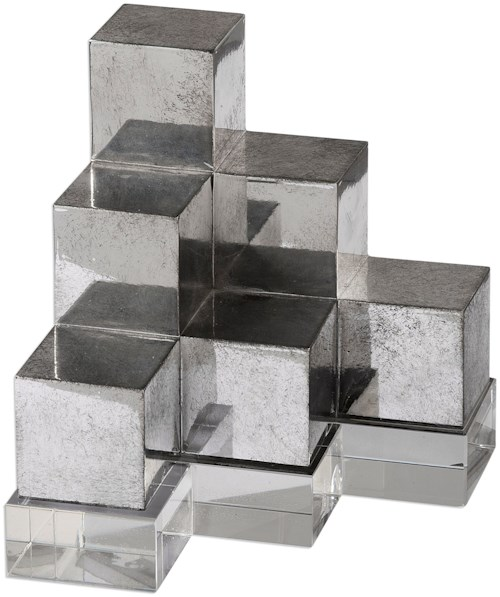 Uttermost Accessories Valerio Silver Bookends S/2