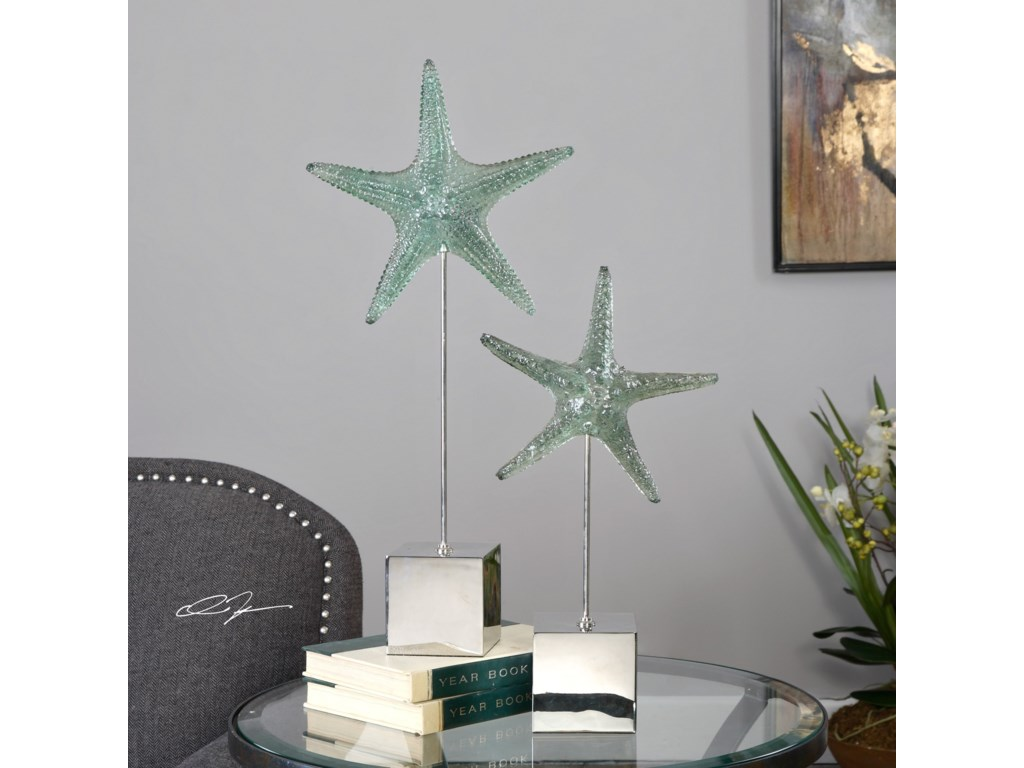 Uttermost Accessories - Statues and FigurinesStarfish Sculpture S/2