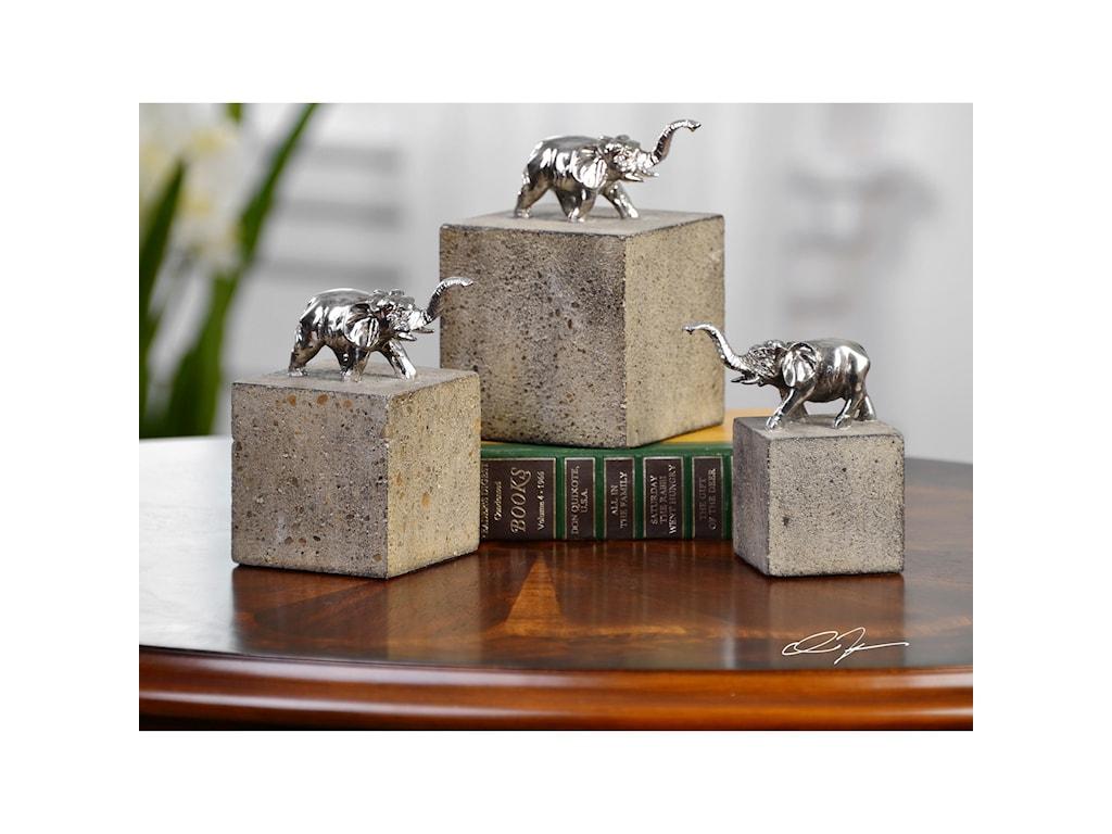 Uttermost AccessoriesTiberia Elephant Sculpture S/3