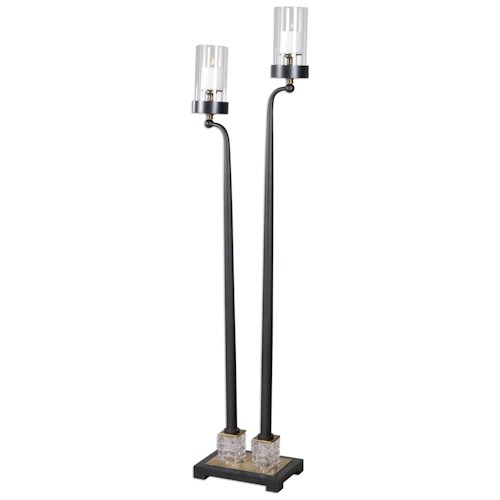Uttermost Accessories Rondure Dark Bronze Floor Candleholder
