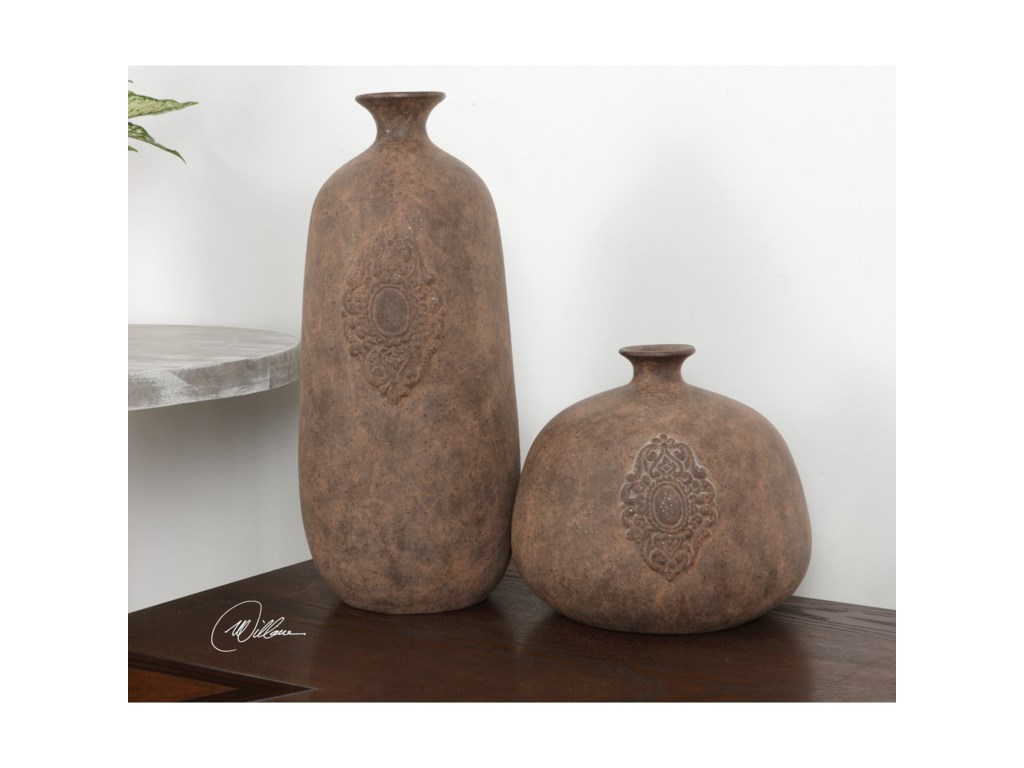 Uttermost Accessories Frederico Rustic Vases (Set of 2)