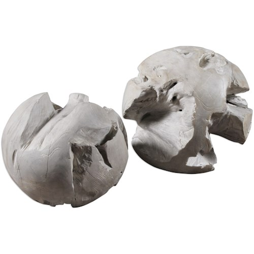 Uttermost Accessories Ermanno Teak Balls (Set of 2)