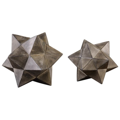 Uttermost Accessories Geometric Stars Concrete Sculpture Set/2