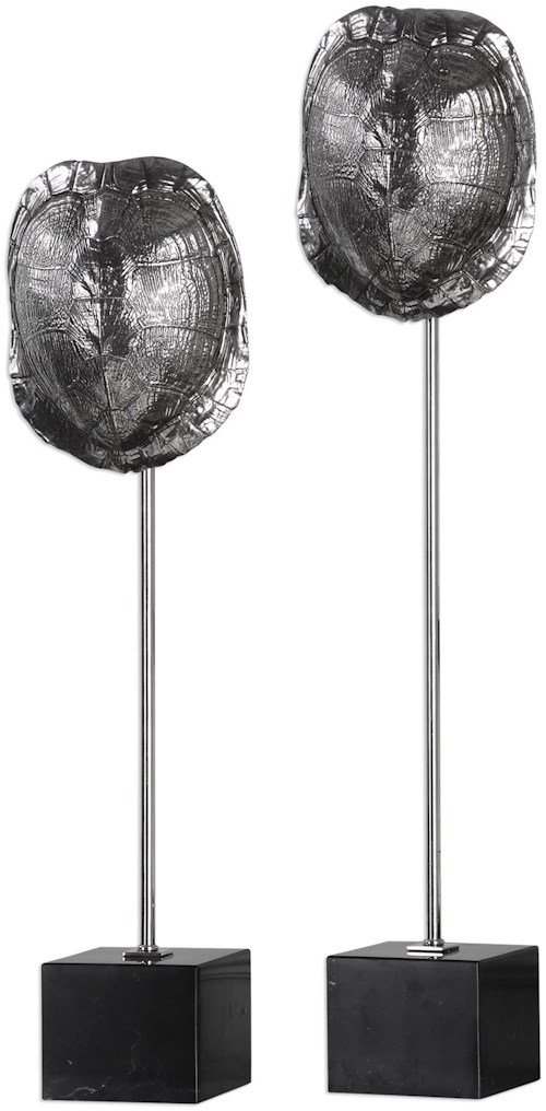 Uttermost Accessories Box Turtle Shells (Set of 2)