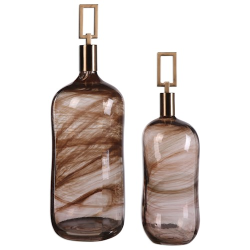 Uttermost Accessories Ginevra Bottles (Set of 2)