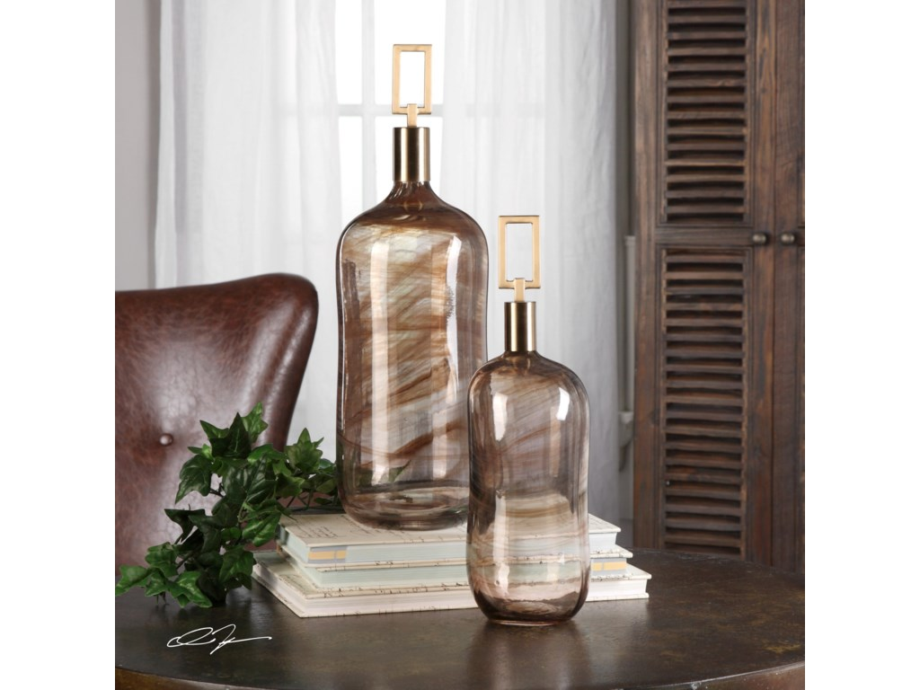 Uttermost AccessoriesGinevra Bottles (Set of 2)