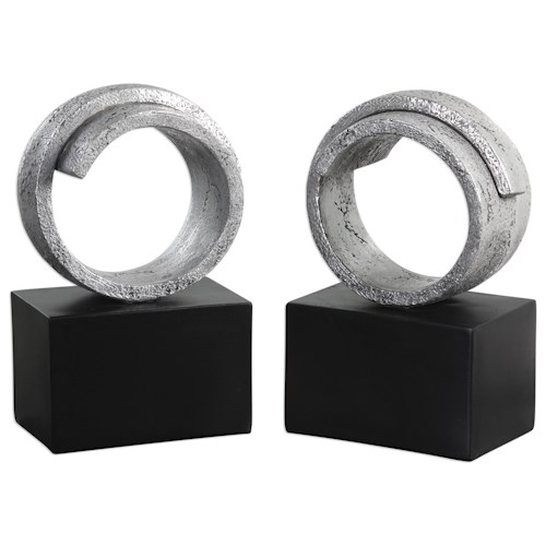 Uttermost Accessories Twist Bookends (Set of 2)