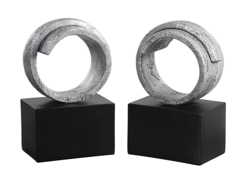Uttermost AccessoriesTwist Bookends (Set of 2)