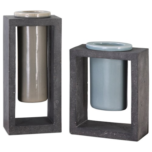 Uttermost Accessories Pio Vases (Set of 2)