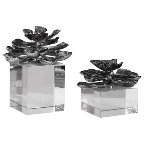Uttermost Accessories Indian Lotus (Set of 2)