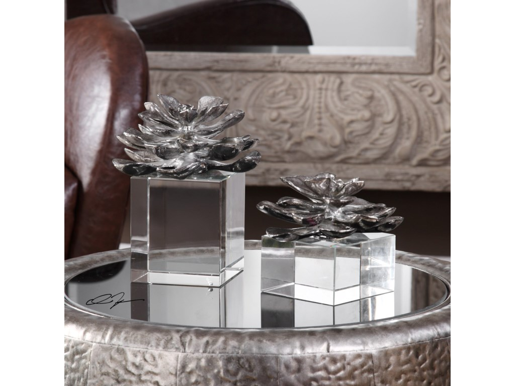Uttermost BotanicalsIndian Lotus (Set of 2)