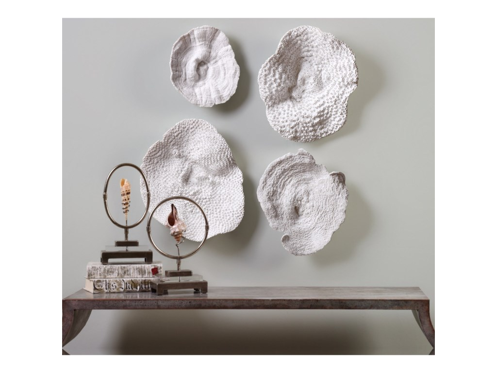 Uttermost Accessories - Statues and FigurinesSea Coral (Set of 4)