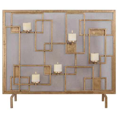 Uttermost Accessories  Mara Fireplace Screen Candleholder