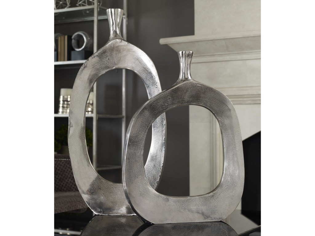 Uttermost Accessories - Vases and UrnsCierra Aluminum Vases (Set of 2)