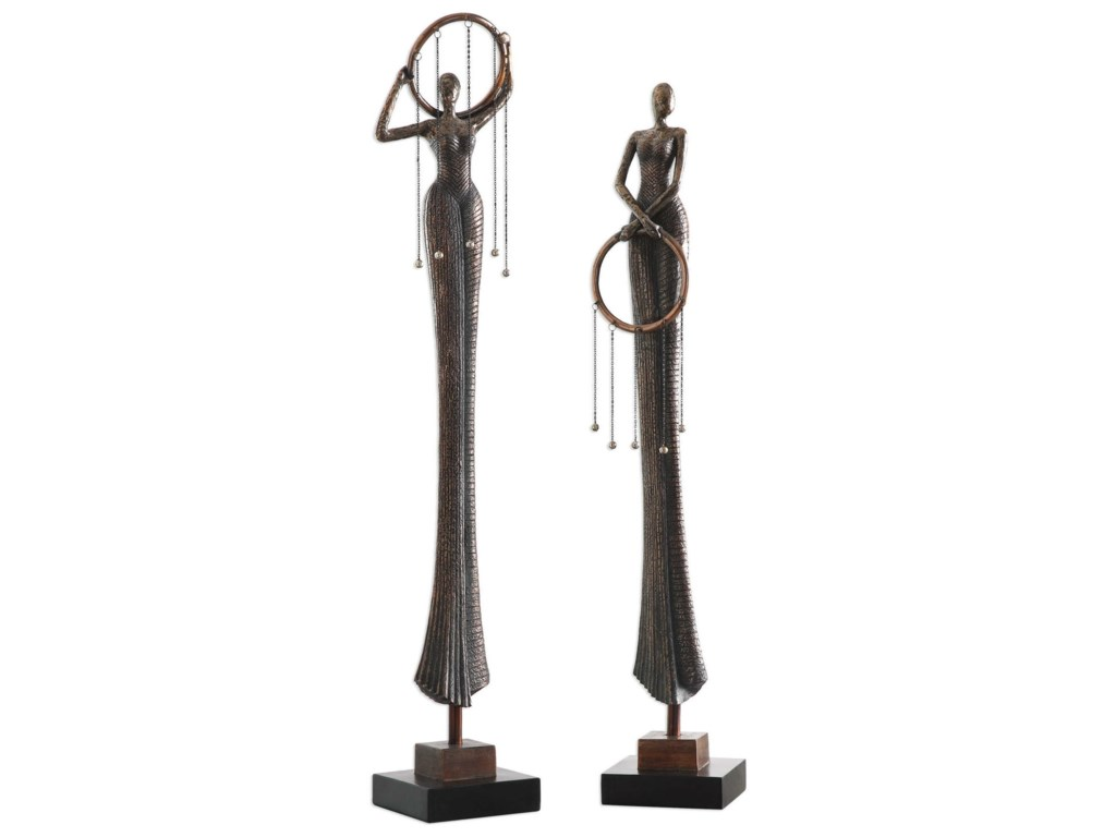 Uttermost AccessoriesRing Dance Sculpture (Set of 2)