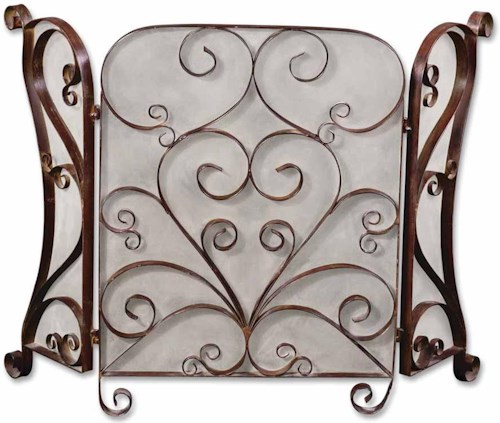 Uttermost Accessories Daymeion Fireplace Screen