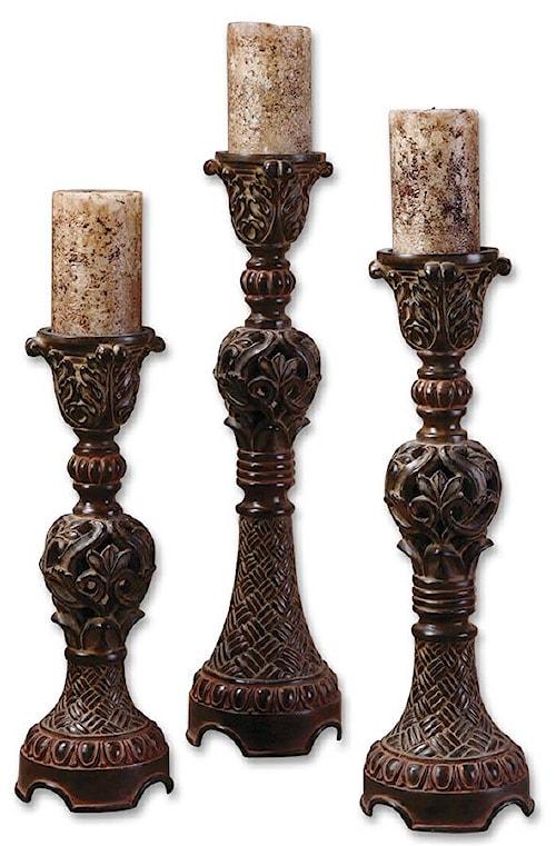 Uttermost Accessories Rosina Candlesticks Set of 3