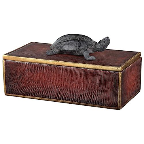 Uttermost Accessories Neagan Chestnut Brown Box