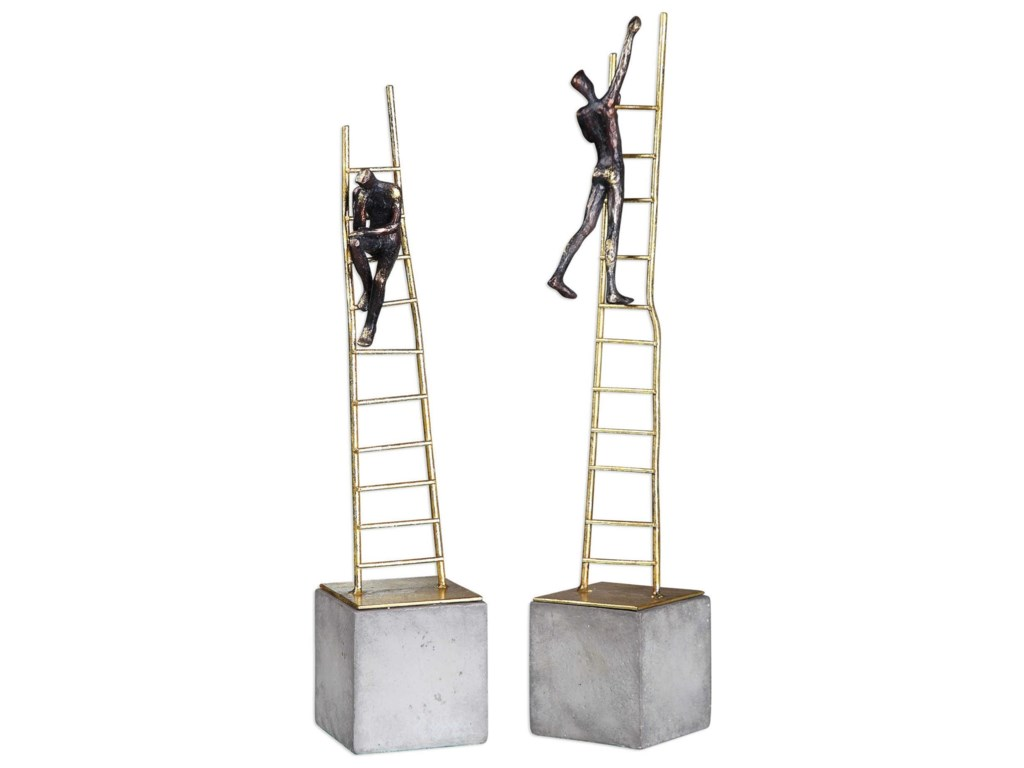 Uttermost Accessories - Statues and FigurinesLadder Climb Sculpture (Set of 2)