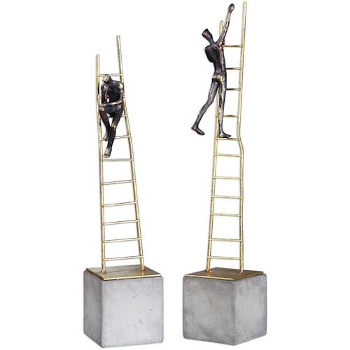 Uttermost Accessories Ladder Climb Sculpture (Set of 2)