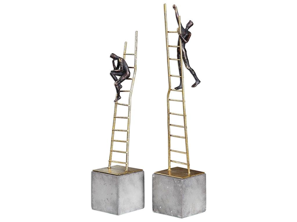 Uttermost AccessoriesLadder Climb Sculpture (Set of 2)