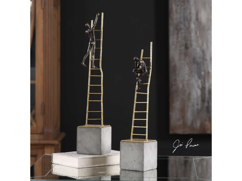 Uttermost AccessoriesLadder Climb Sculpture (Set of 2)