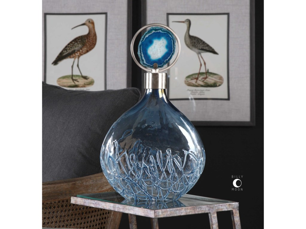 Uttermost Accessories - Vases and UrnsRae Sky Blue Vase