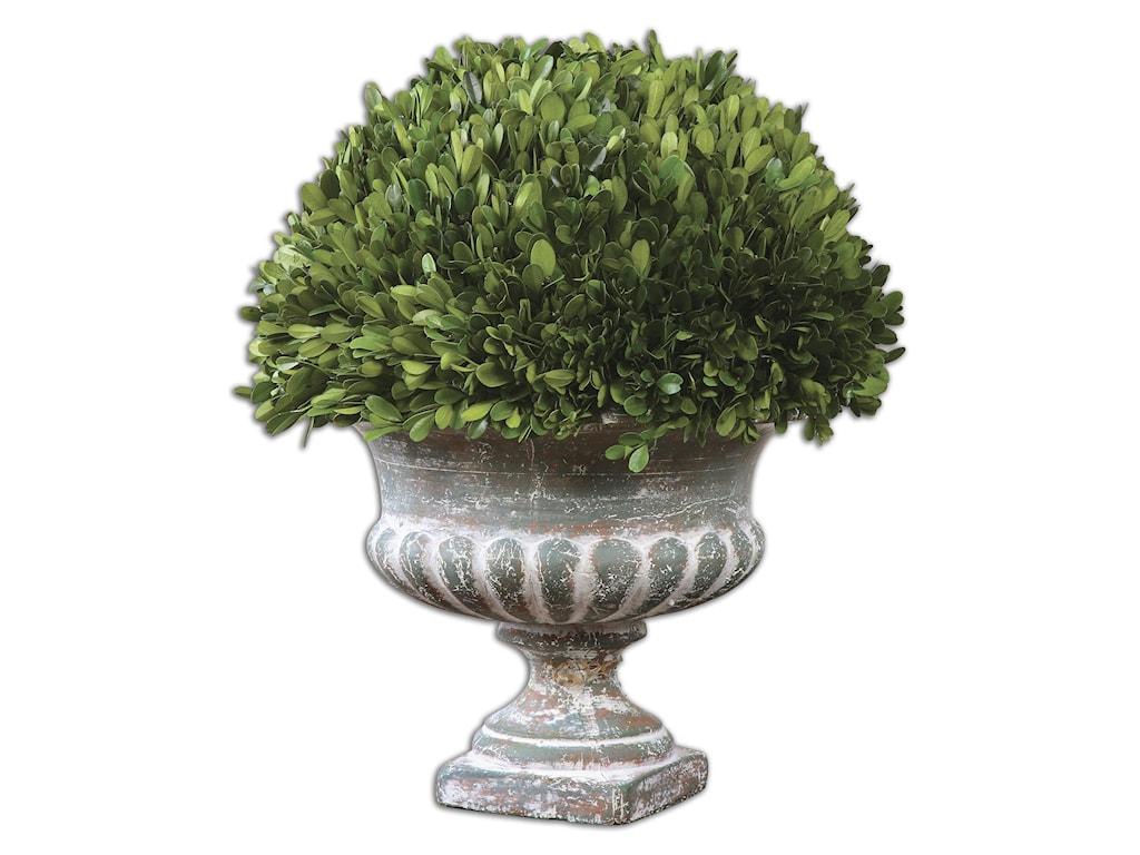 Uttermost AccessoriesPreserved Boxwood Garden Urn