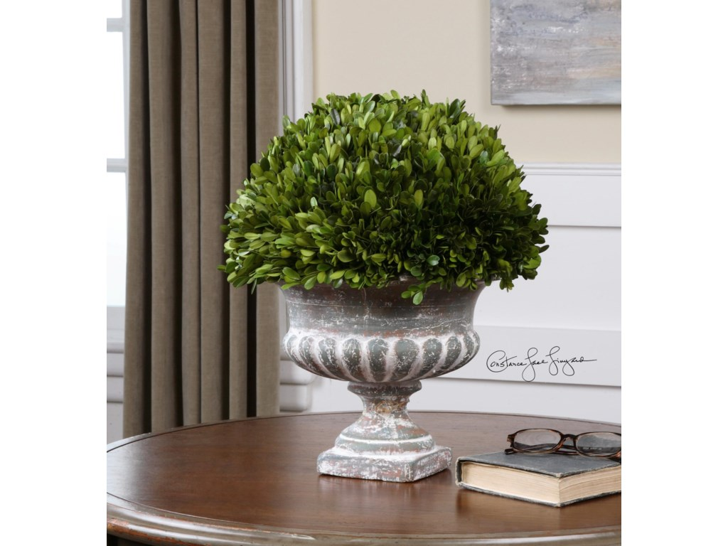 Uttermost Accessories - Vases and UrnsPreserved Boxwood Garden Urn
