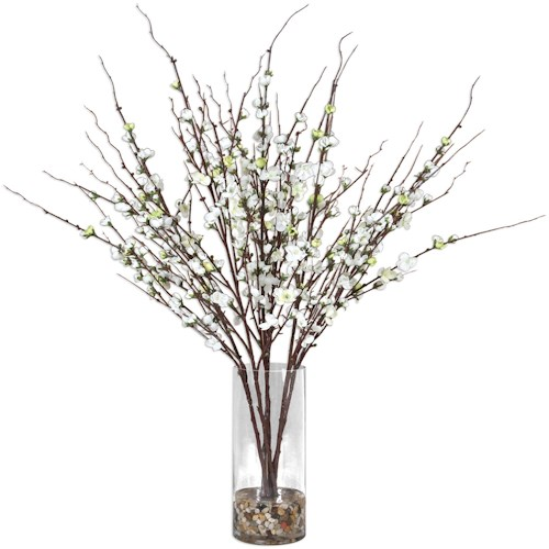 Uttermost Accessories Quince Blossoms Silk Centerpiece