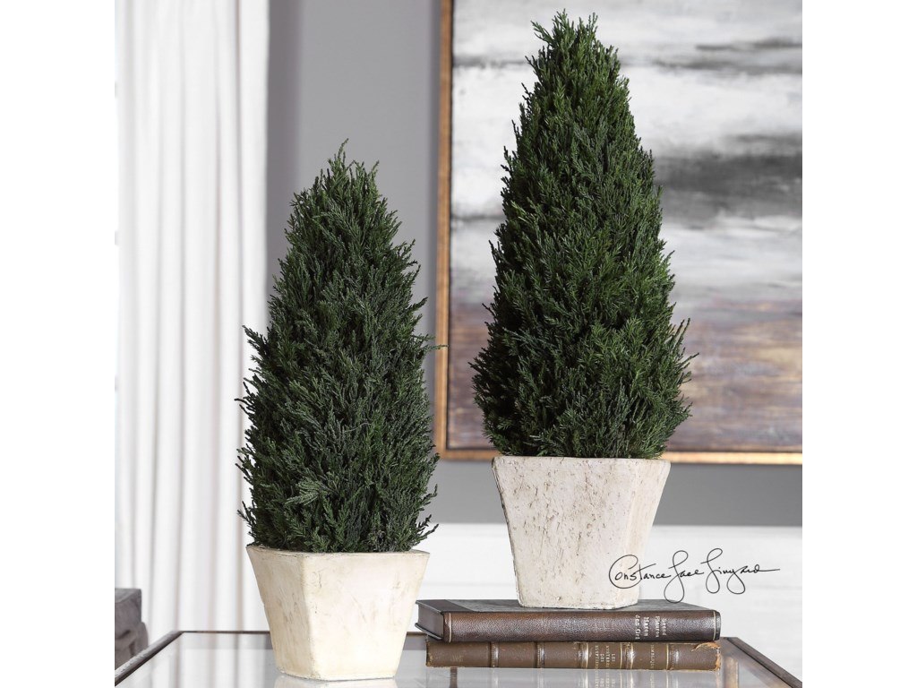 Uttermost AccessoriesCypress Cone Topiaries, S/2