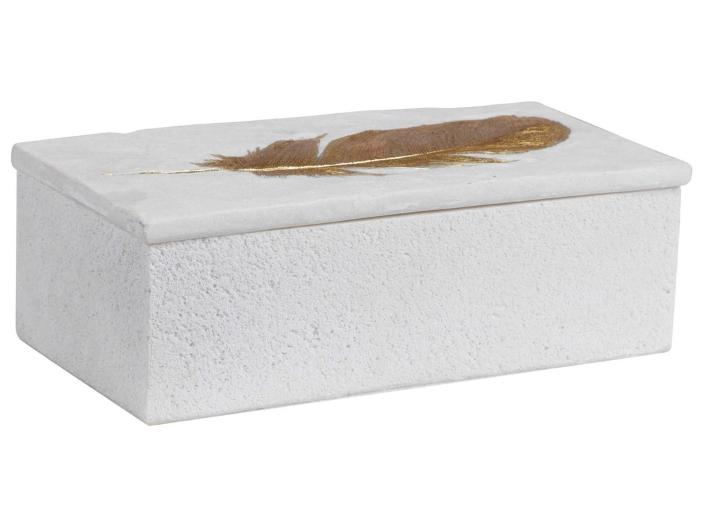 Uttermost Accessories - BoxesNephele White Stone Box