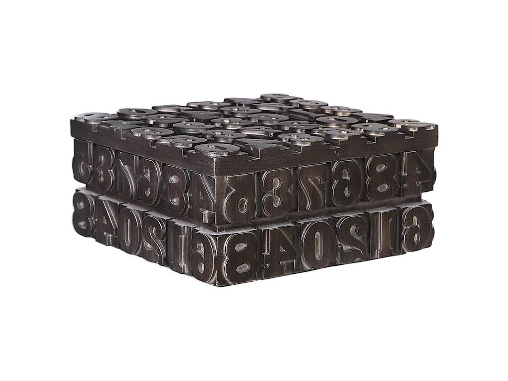 Uttermost Accessories - BoxesTypesetting Decorative Bronze Box
