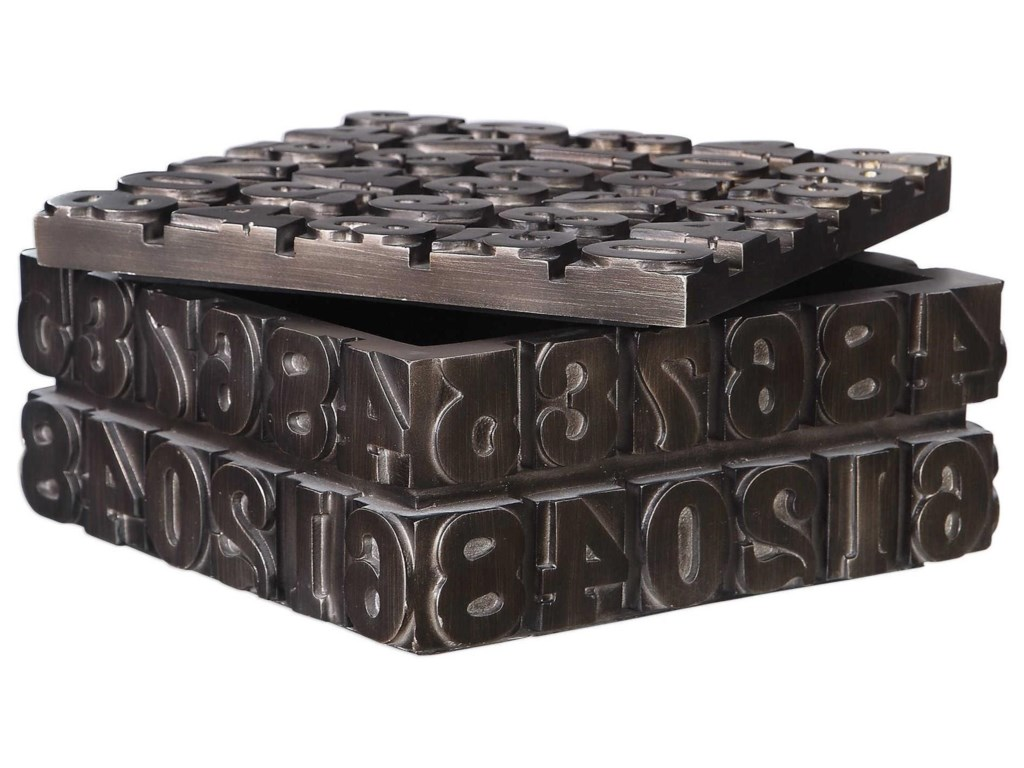 Uttermost Accessories - BoxesTypesetting Decorative Bronze Box