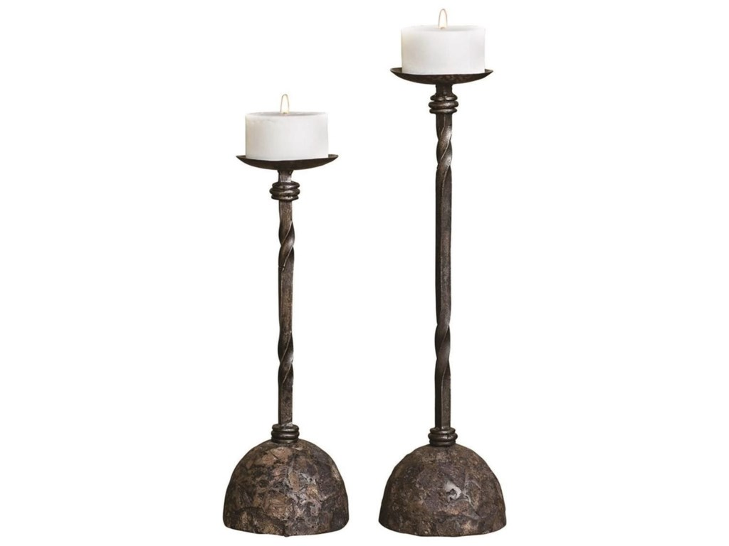 Uttermost Accessories - Candle HoldersKeegan Tall Candleholders, Set/2