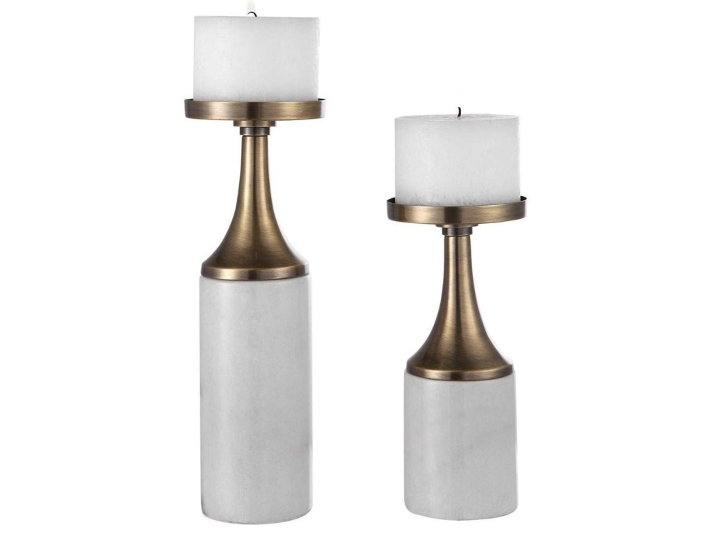 Uttermost Accessories - Candle HoldersCastiel Marble Candleholders, Set/2