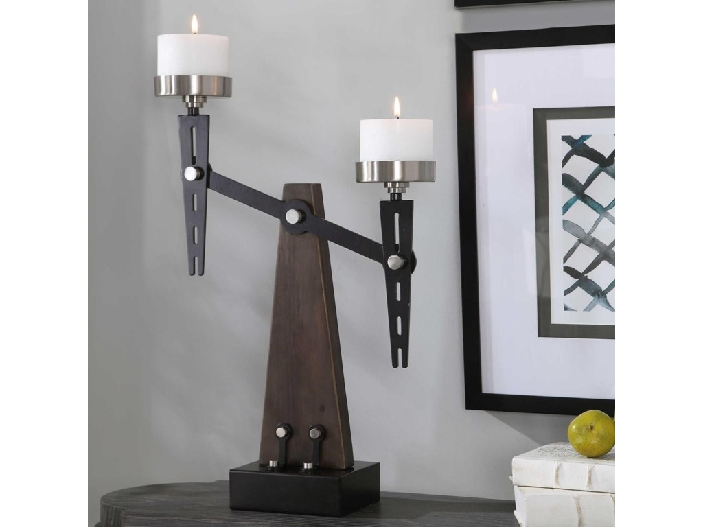 Uttermost Accessories - Candle HoldersCardiff Industrial Candleholder