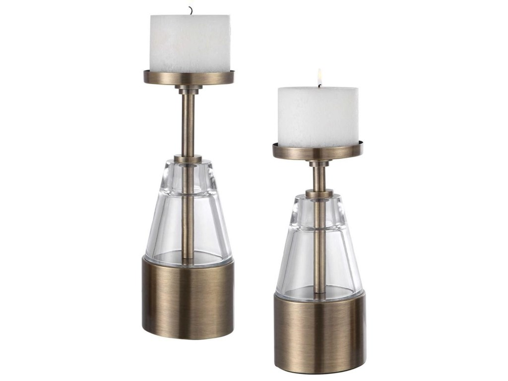 Uttermost Accessories - Candle HoldersTheirry Crystal Candleholders, Set/2