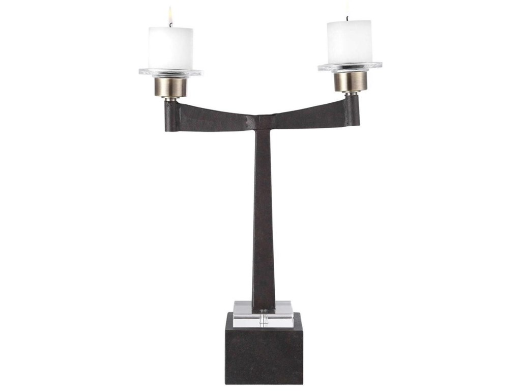 Uttermost Accessories - Candle HoldersElizer Aged Black Candleholder