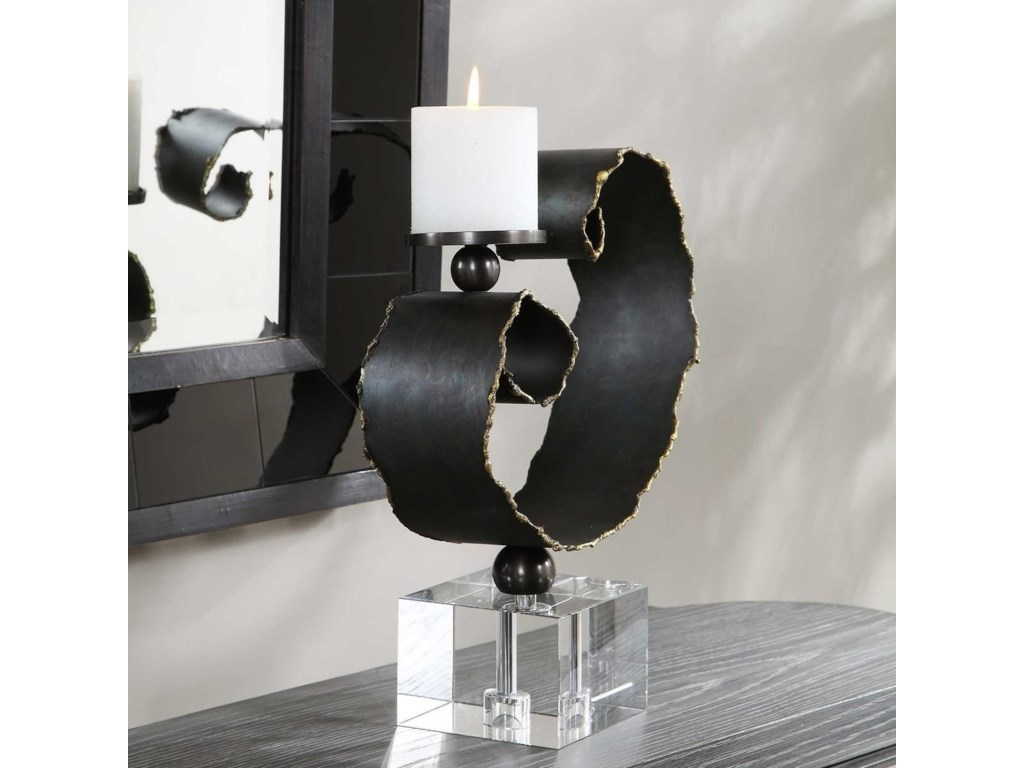 Uttermost Accessories - Candle HoldersYarina Dark Bronze Candleholder