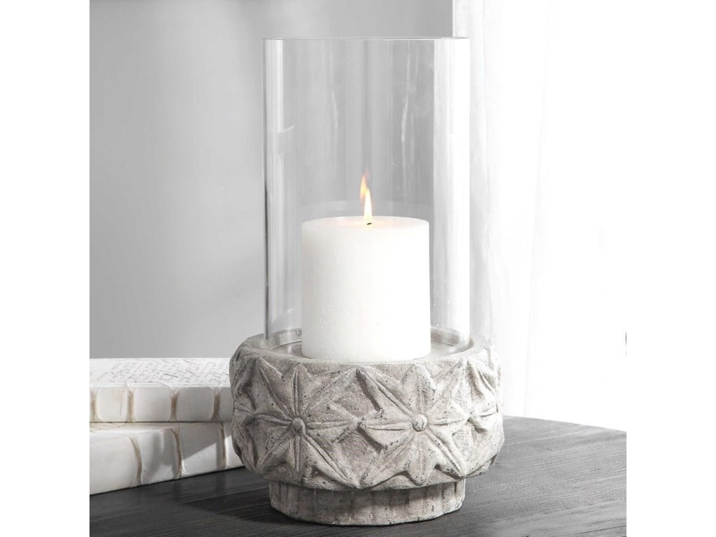 Uttermost Accessories - Candle HoldersCapistrano Concrete Candleholder
