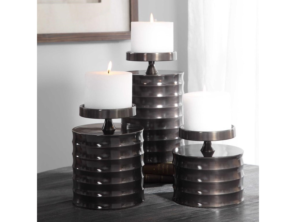 Uttermost Accessories - Candle HoldersPernille Modern Candleholders, Set/3