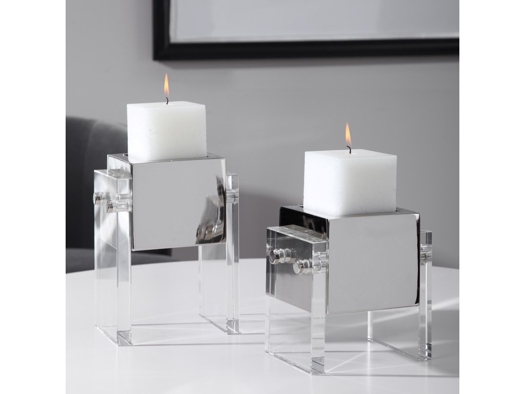 Uttermost Accessories - Candle HoldersSutton Square Candleholders, S/2