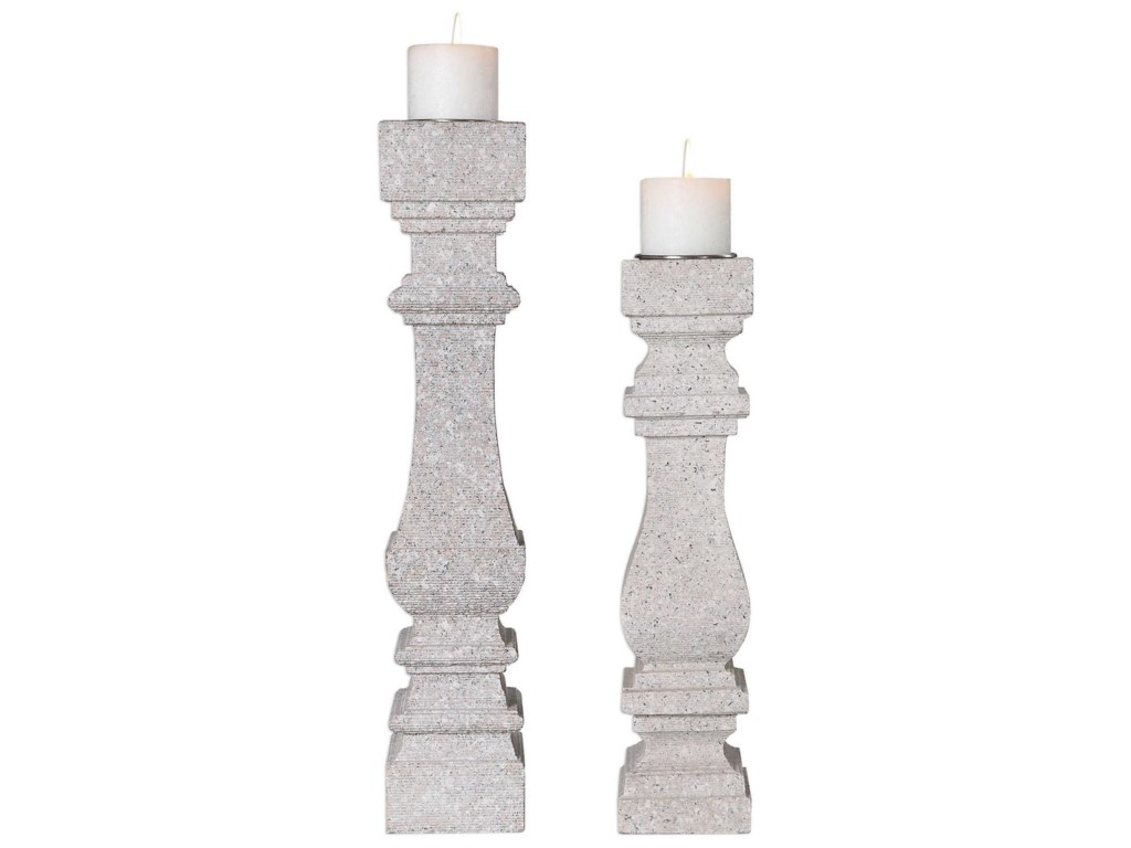 Uttermost Accessories - Candle HoldersAdley Candleholders (Set of 2)
