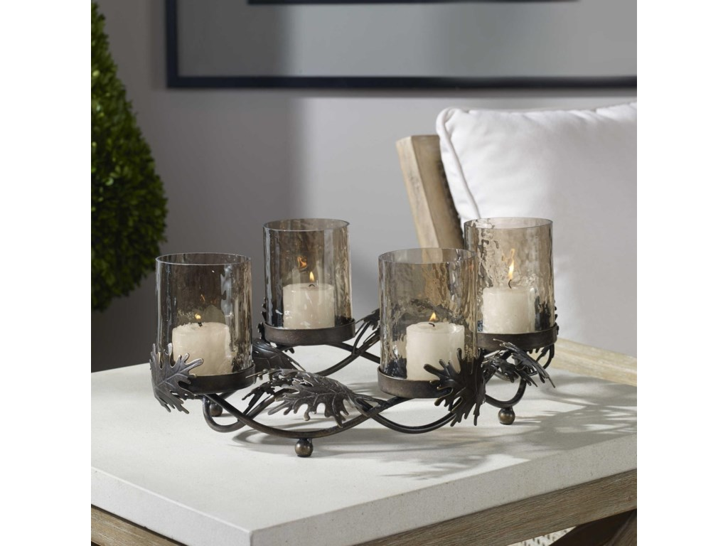 Uttermost Accessories - Candle HoldersElora Cast Leaves Candelabra