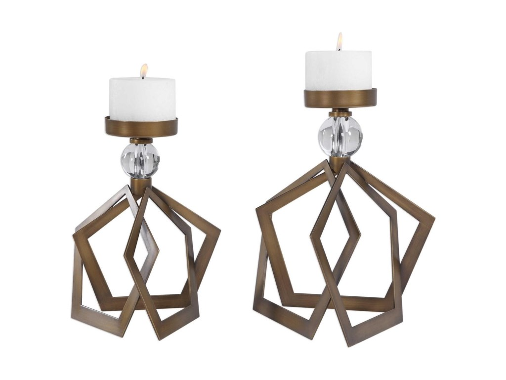Uttermost Accessories - Candle HoldersLianna Open Bronze Candleholders (Set of 2)