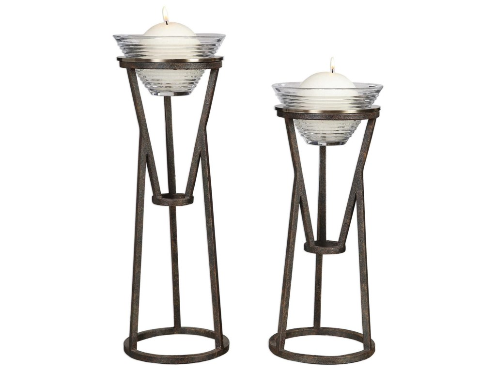 Uttermost Accessories - Candle HoldersLane Iron Candleholders (Set of 2)