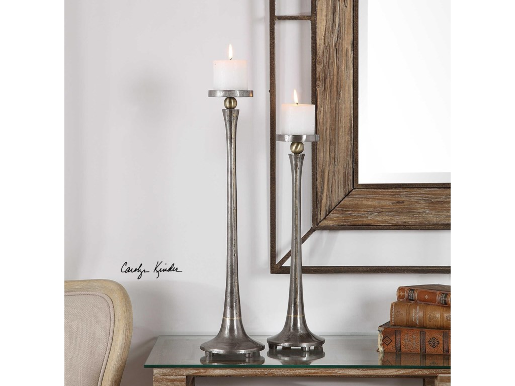 Uttermost Accessories - Candle HoldersAliso Cast Iron Candleholders (Set of 2)